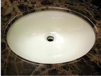 Beige Porcelain Undermount 17x14 Sink